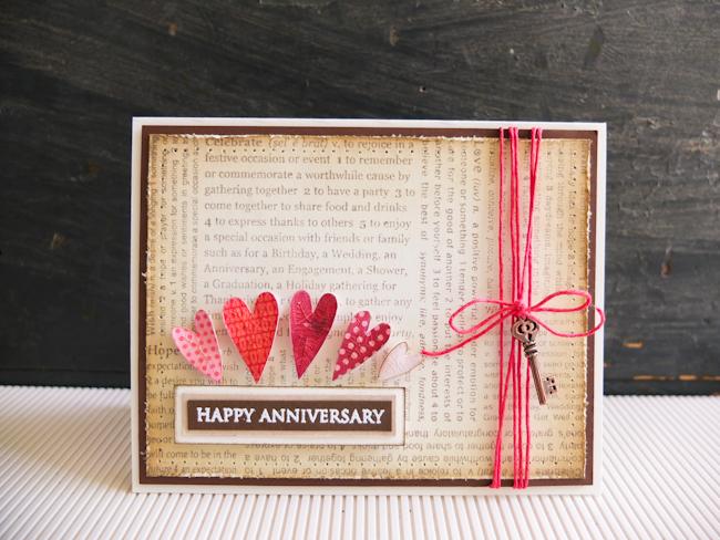 Happy anniversary card mayholic design