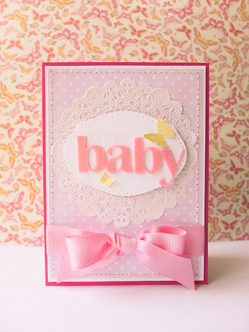 It's a girl-Baby Card – Mayholic in Crafts