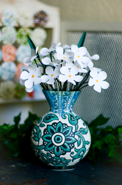 Paper Flowers In A Vase Mayholic Design