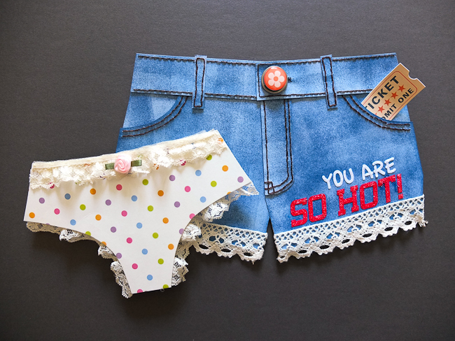 Summer Denim Shorts – Shaped Card