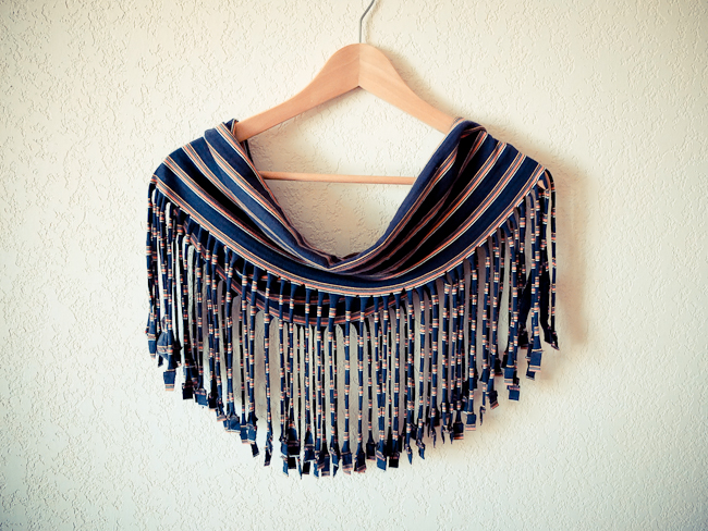 how to make fancy tassels for a scarf