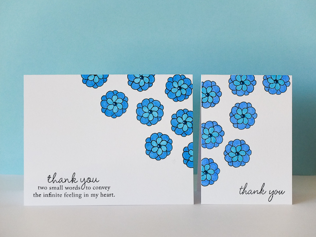 Something Blue : Thank You Cards