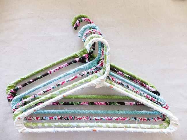 DIY Floral Fabric Hangers - Mayholic in Crafts