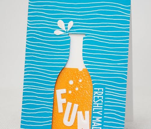 Gallery Idol Round 2: Fresh Soda Card usingDie-cutting
