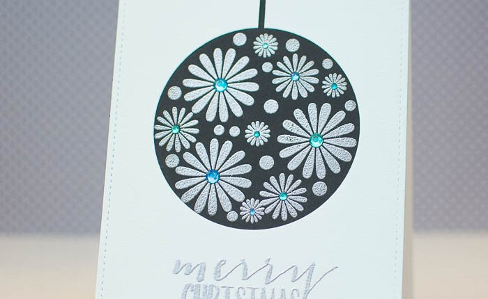 CASology #125: Christmas Ornament Card using Heat Embossing