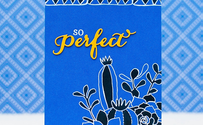 Waffle Flower: So Perfect Card using 2015 Pantone SpringColor