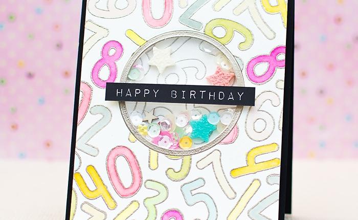 Fusion: Happy Birthday ShakerCard