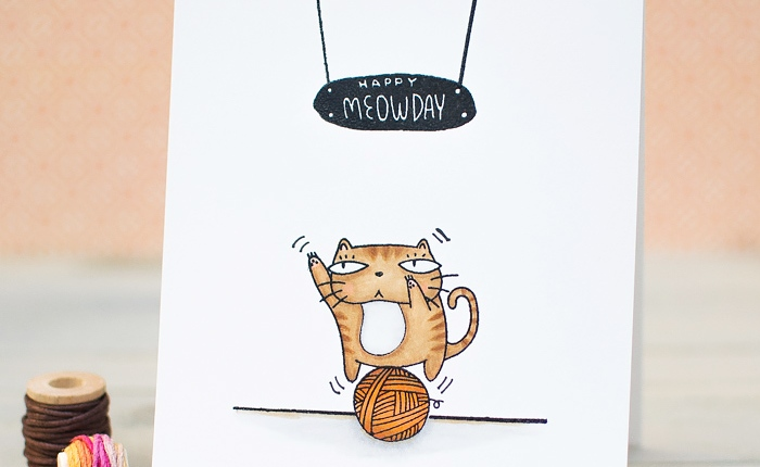 Neat and Tangled: Happy Meowday Card + Giveaway