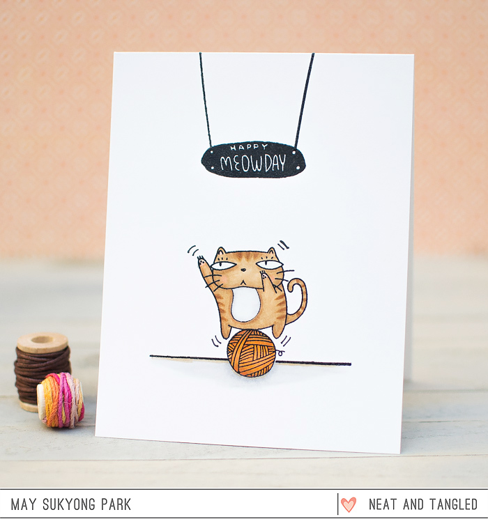 neat and tangled happy meowday card giveaway mayholic in crafts