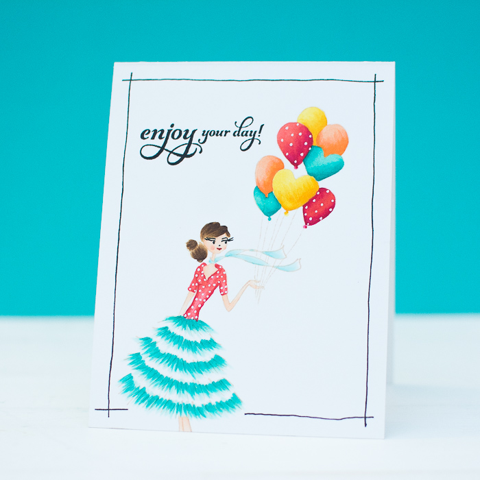 Penny Black Happy Birthday Cards Using No Line Coloring Mayholic