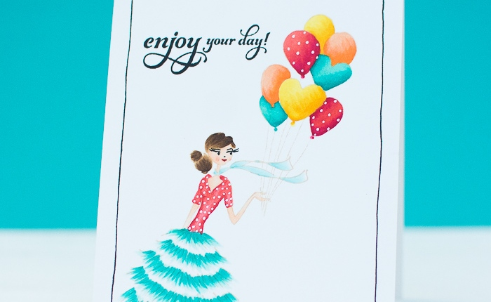 Penny Black: Happy Birthday Cards using No-line Coloring