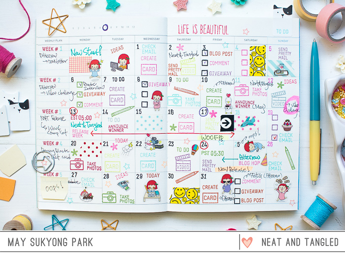Blog Planner Decoration by May Park_1
