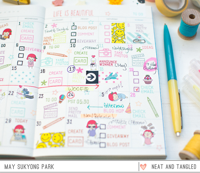 Blog Planner Decoration by May Park_2