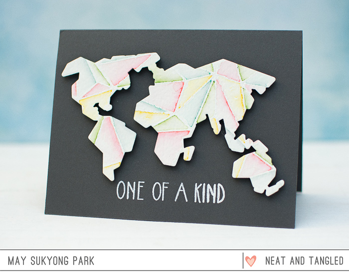 Faced World Map Card by May_1