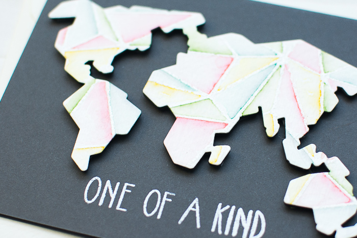 Faced World Map Card by May_3