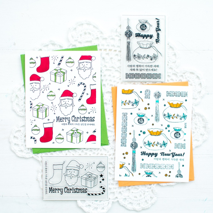 Video korean new year card w stamped background mayholic design today im so excited to share some special projects that ive worked behind the scenes i designed a couple of korean stamp sets for a korean company m4hsunfo