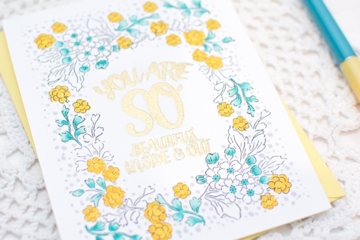 DIY Homemade Card with Stamping
