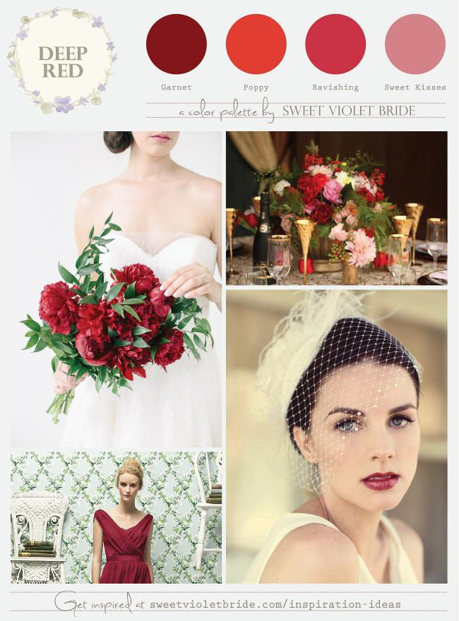 red color combination inspiration