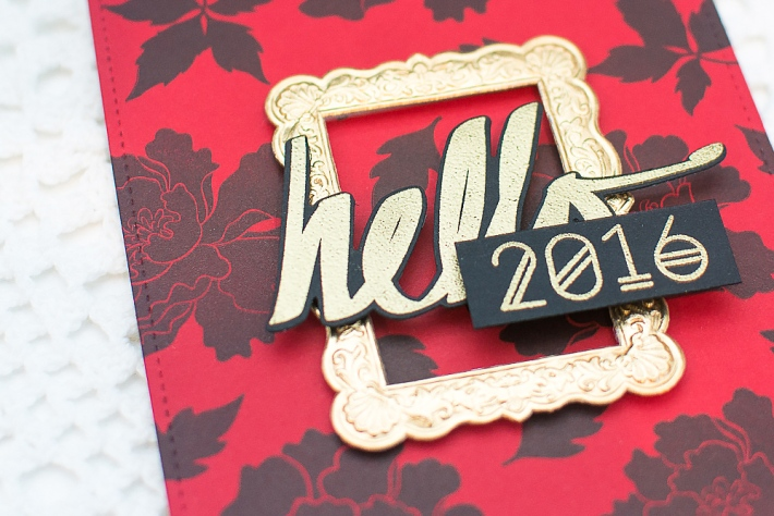DIY Homemade New Year Card using Stamping and Heat Embossing