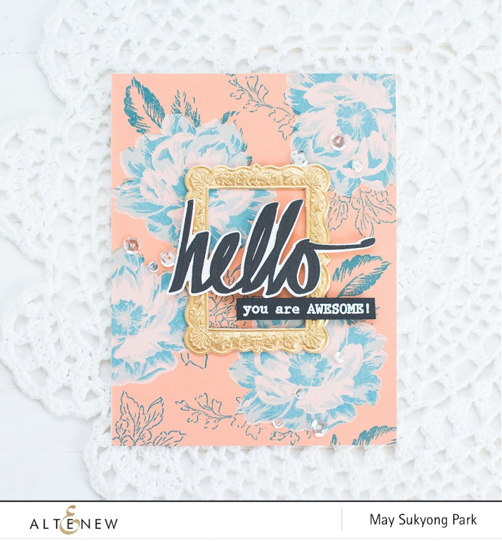 DIY Vintage Floral Background_Handmade Card