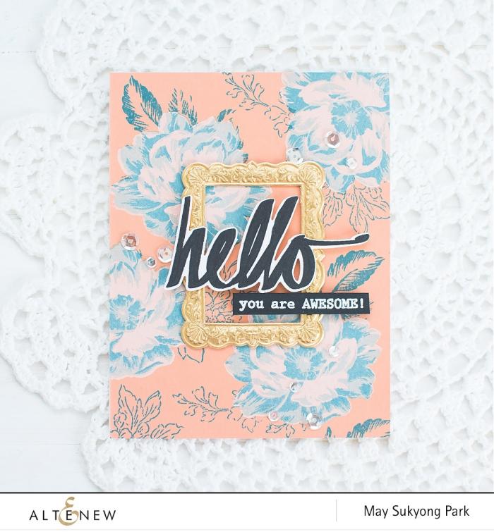 DIY Vintage Floral Background_Handmade Card