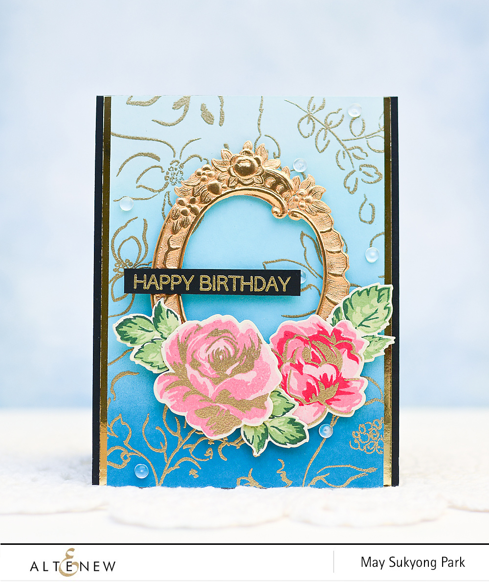 Handmade Birthday Card_FlowerHeatEmbossing_2
