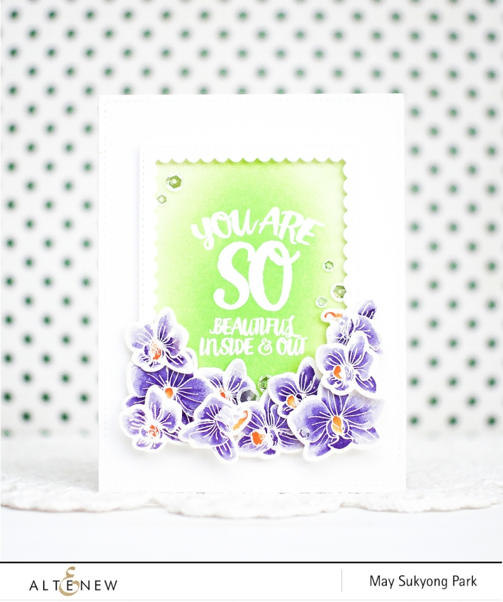 Altenew: Watercoloring White Embossed Flowers with Peerless Watercolors