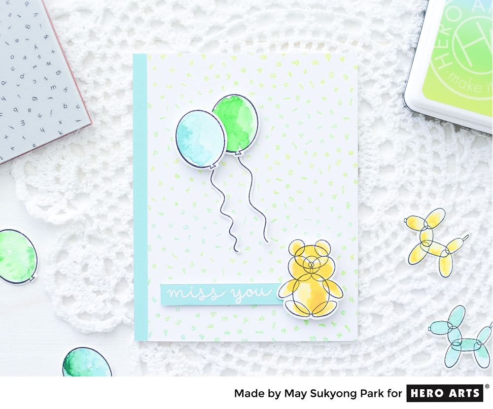 HeroArts_Watercolor Balloon Card_PeerlessWatercolors_7
