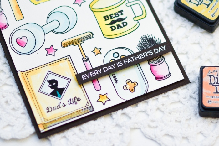 Distress Ink Watercoloring_Altenew_FathersDayCard