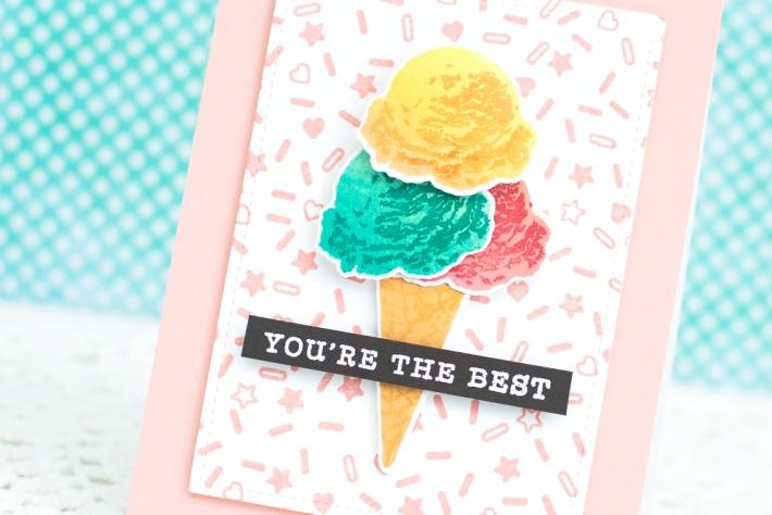 Hero Arts Ice cream Encouragement Card