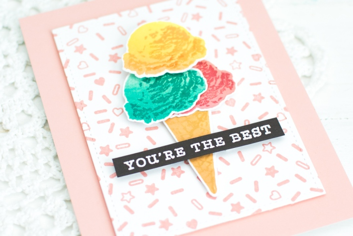 Hero Arts Ice cream Encouragement Card