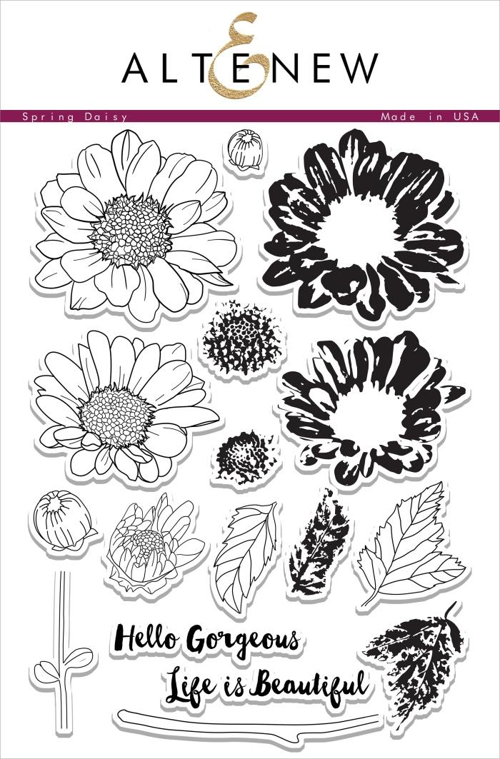 Altenew Spring Daisy Stamp Set