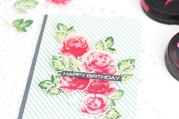 Handmade Birthday Card using Color Layering Technique_Altenew Stamps_May Park