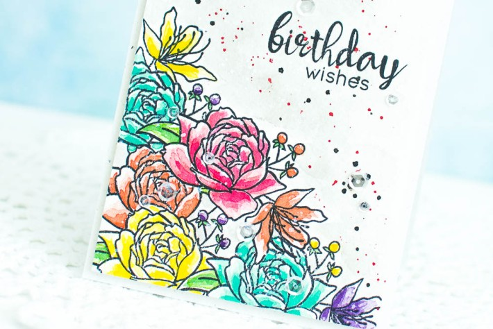 Watercolor Handmade Birthday Card