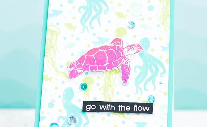 Hero Arts : Summer Card w/ Underwater SceneBackground